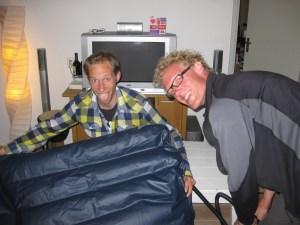 @@@@@IMG_6583 - Overnachting in Den Helder op bank en lek luchtbed
