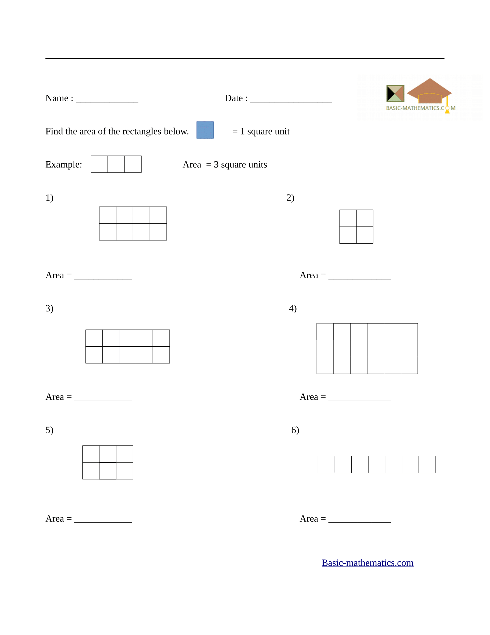 To Measure With Squares And Rectangles Worksheet