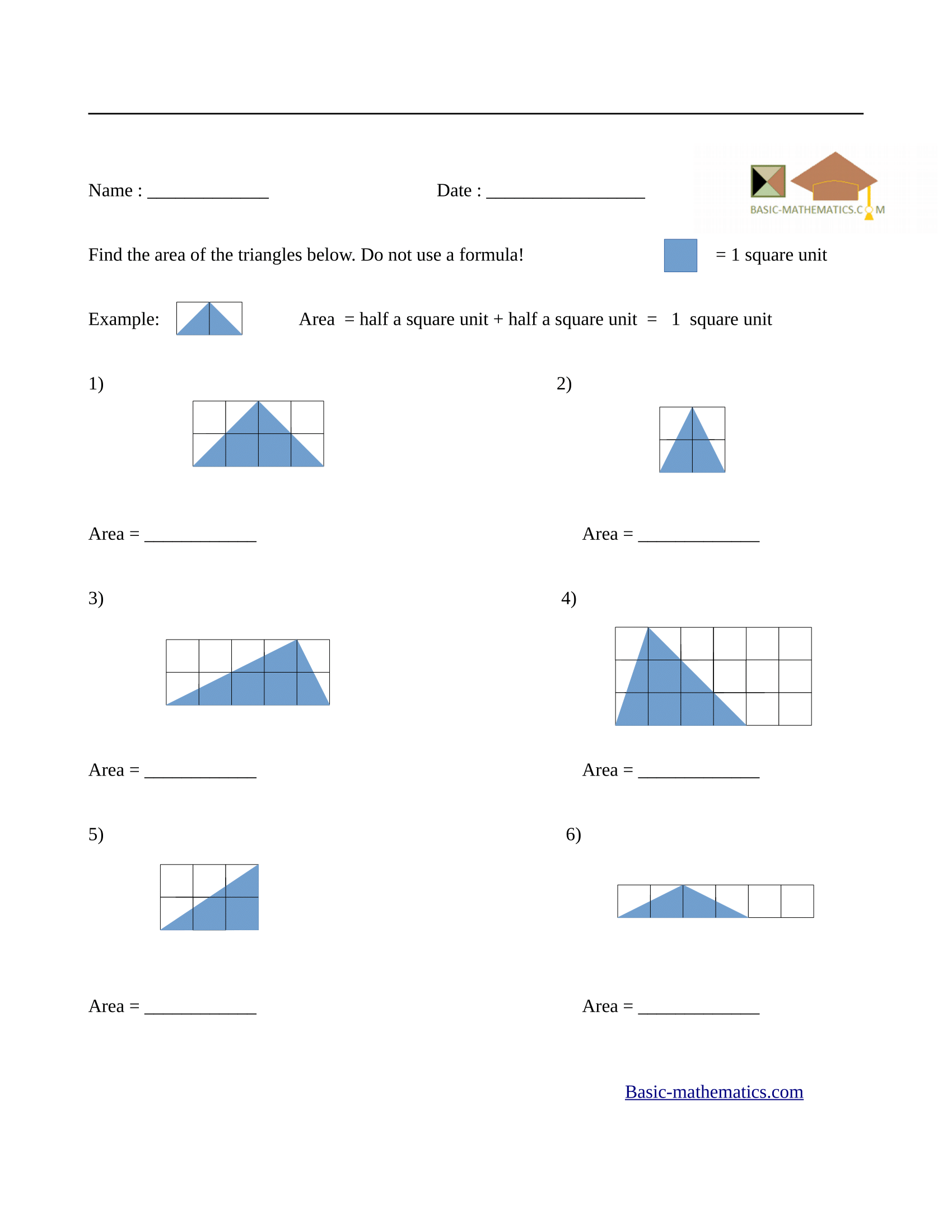 Worksheets Area Of Triangles Worksheet Cheatslist Free