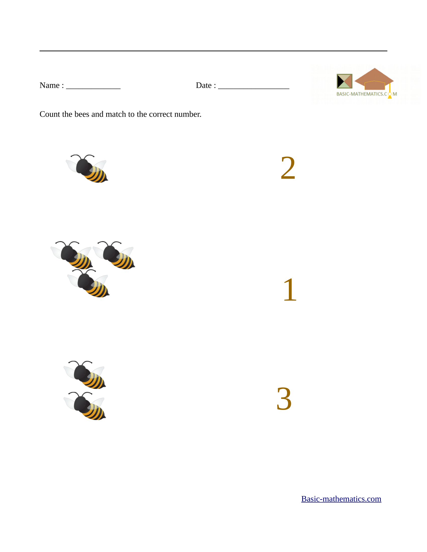 Printables Of Worksheets For Preschool Math