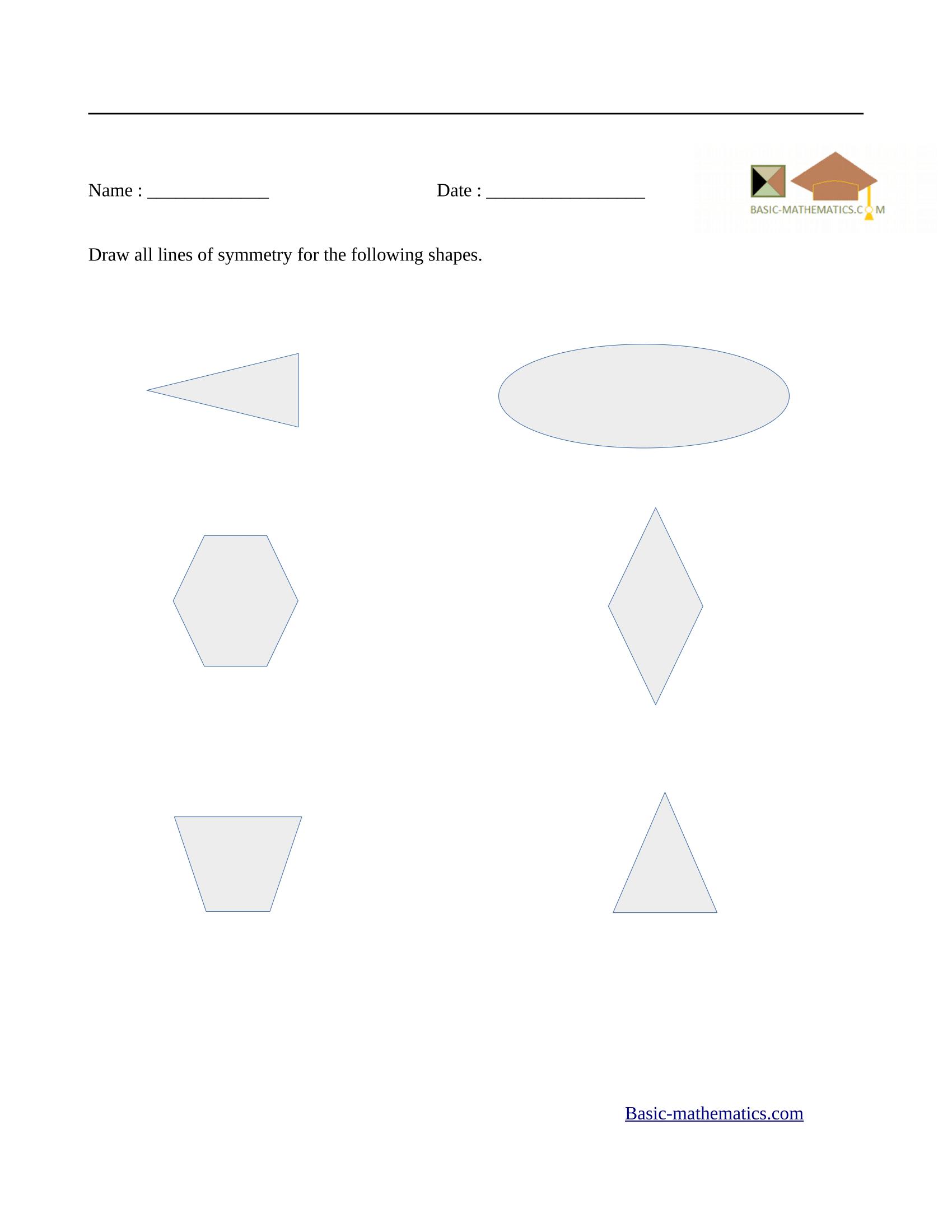 Symmetry Worksheet For Grade 3