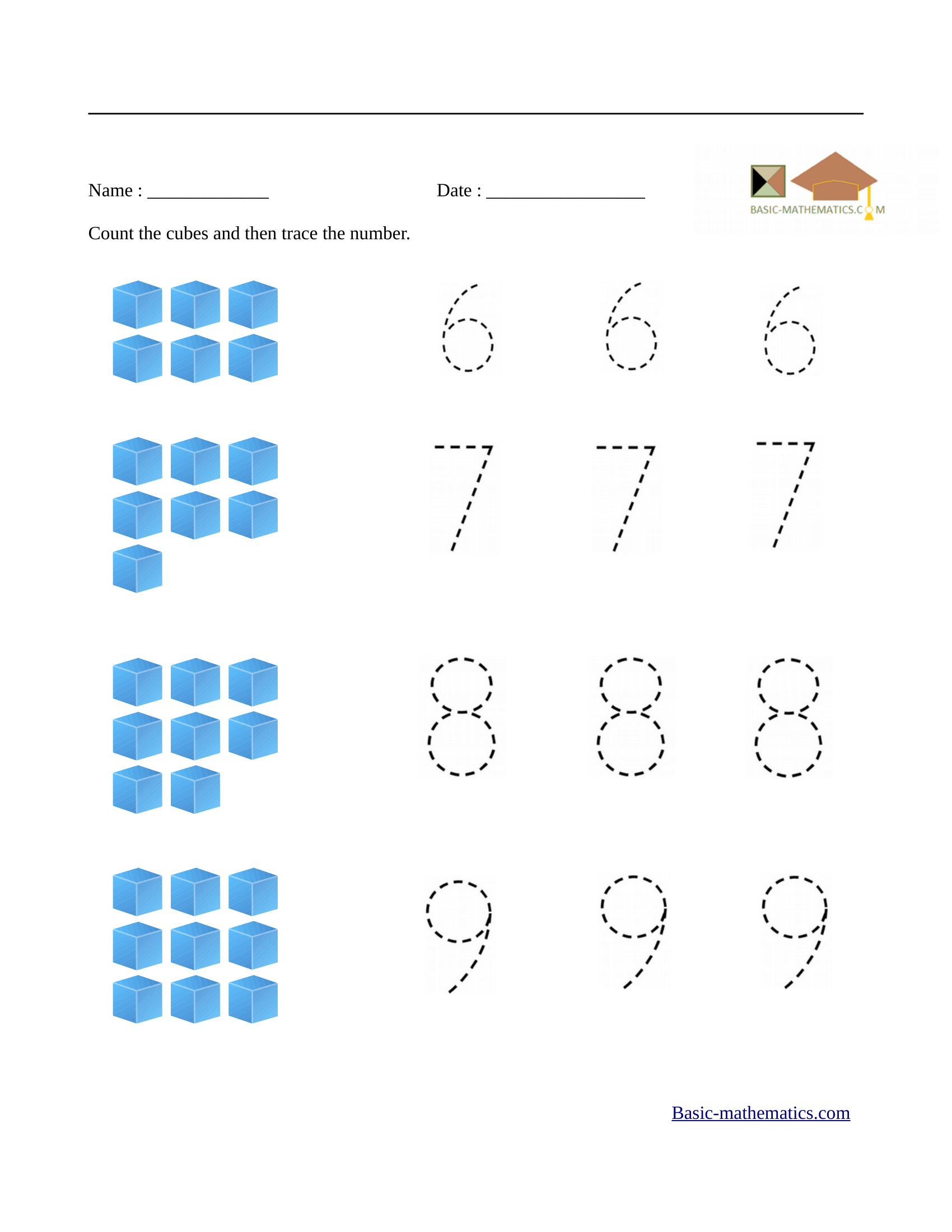 Printables Of Math Problems For Preschoolers