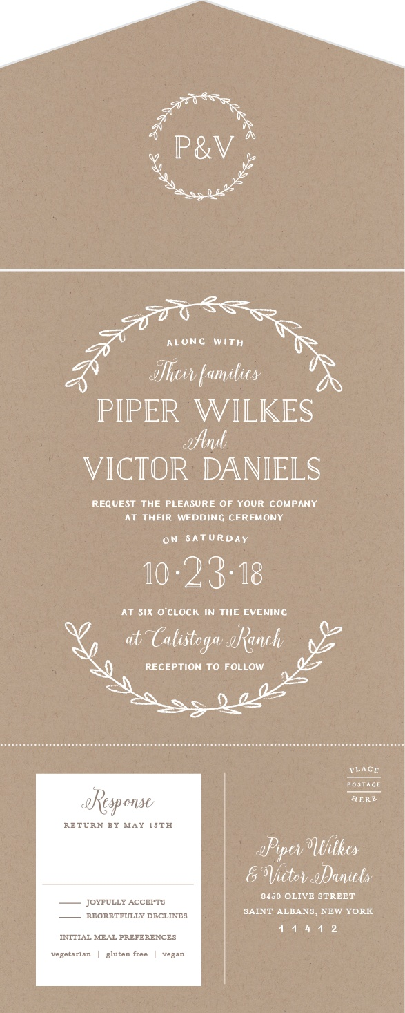 Novelty Wedding Invitations Choice Image Party Ideas Seal And Send All In One