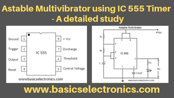 Astable Multivibrator using IC 555 - working details ...