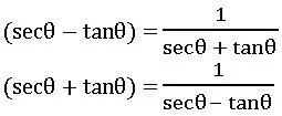 TS inter trigonometric identities 1