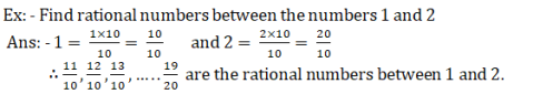 rational number between two numbers