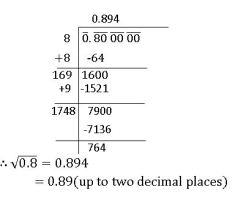 ts viii math square root of decimal number which is not perfect square
