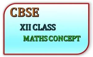 CBSE XII CLASS MATHS CONCEPT FEATURE IMAGE
