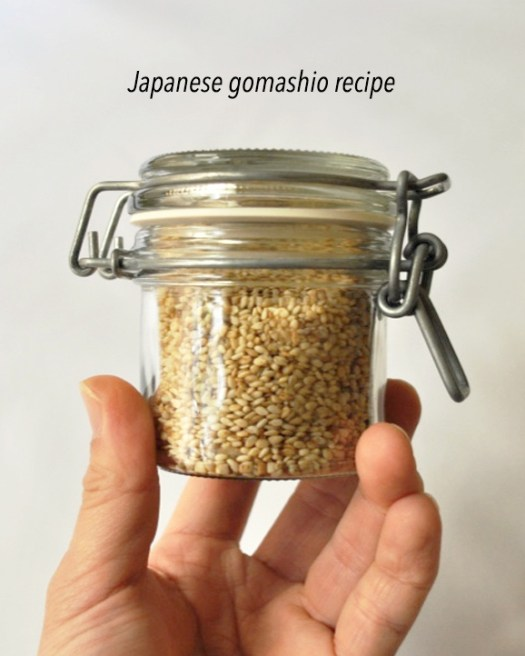 Japanese gomashio (gomasio) recipe from www.basicsofhappy.com