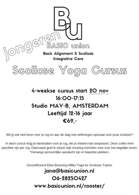 Meer informatie Scoliose Yoga voor Jongeren