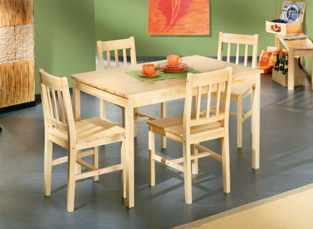 ensemble table 4 chaises carola