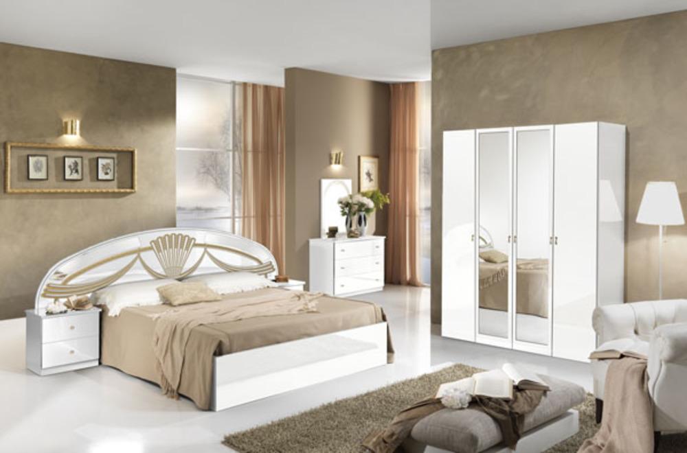 Lit Athena Chambre A Coucher BlancL 250 X H 1063 X P 198