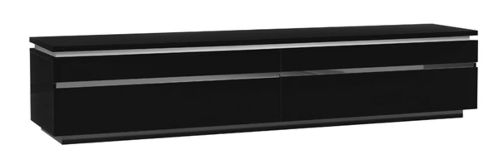meuble tv electra laque noir