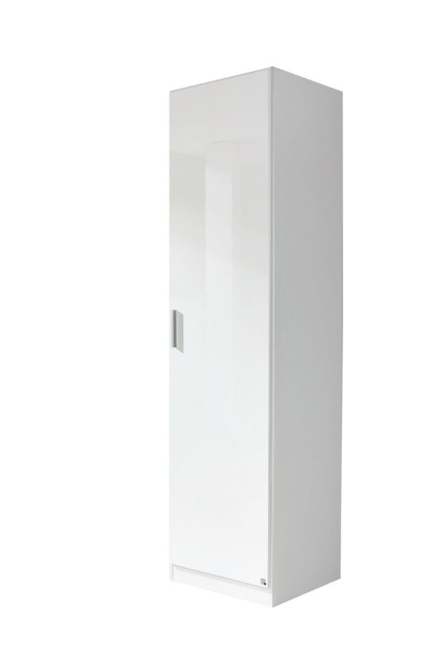 armoire 1 porte celle blanc blanc brillant