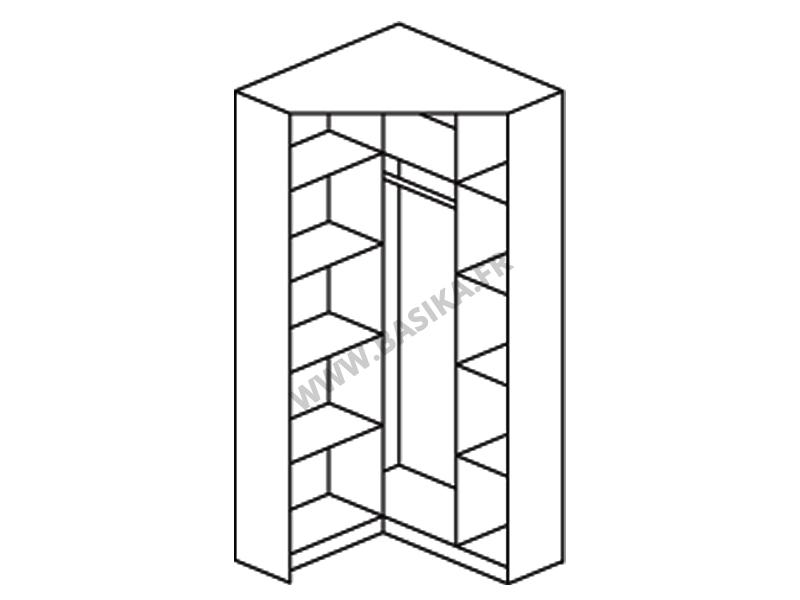 armoire d angle 2 portes miroirs celle blanc blanc brillant
