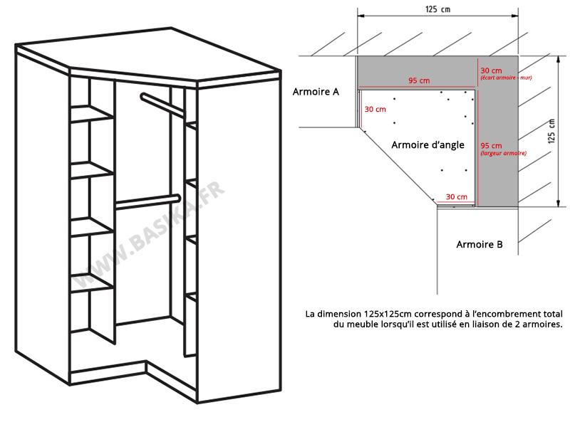 armoire d angle clack blanc portes pleines