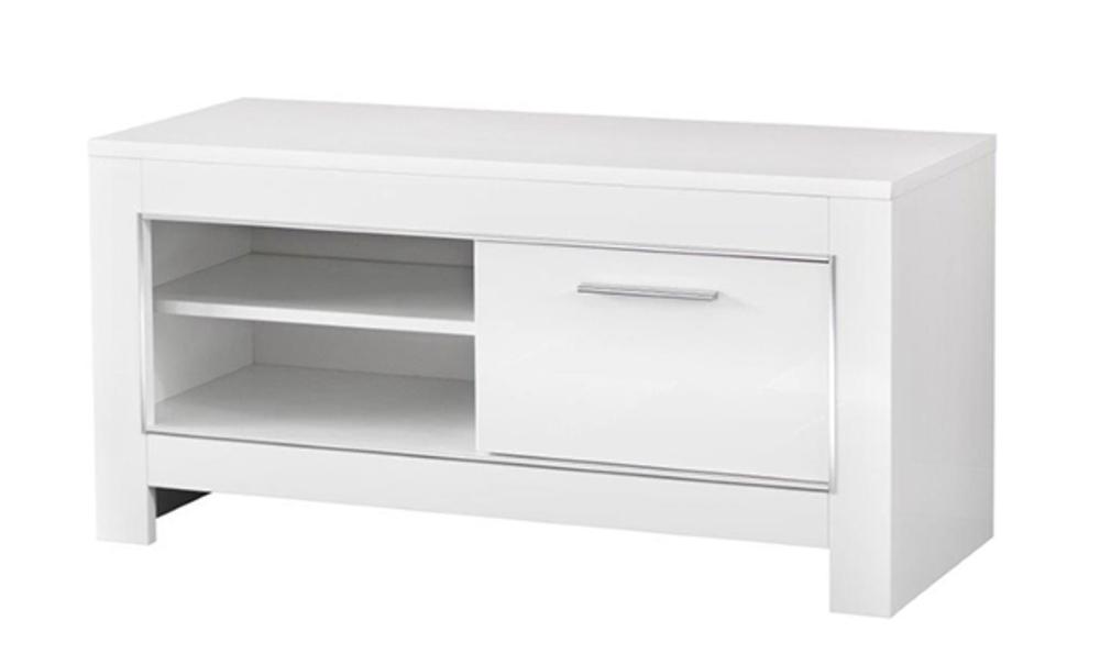 meuble tv pm modena laquee blanc
