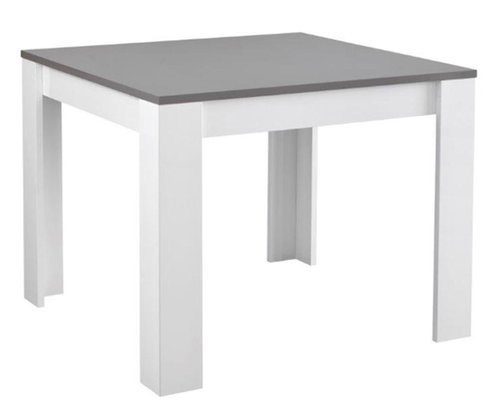 table de repas modena laquee blanc grise