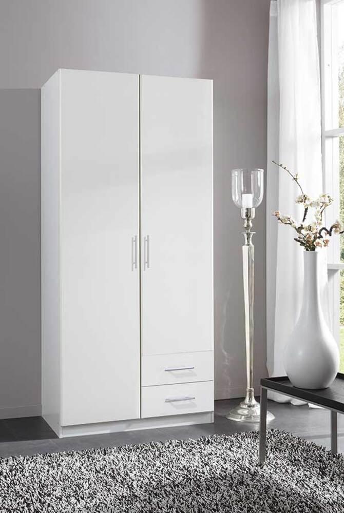 Armoire 2 Portes 2 Tiroirs Spectral Blanc