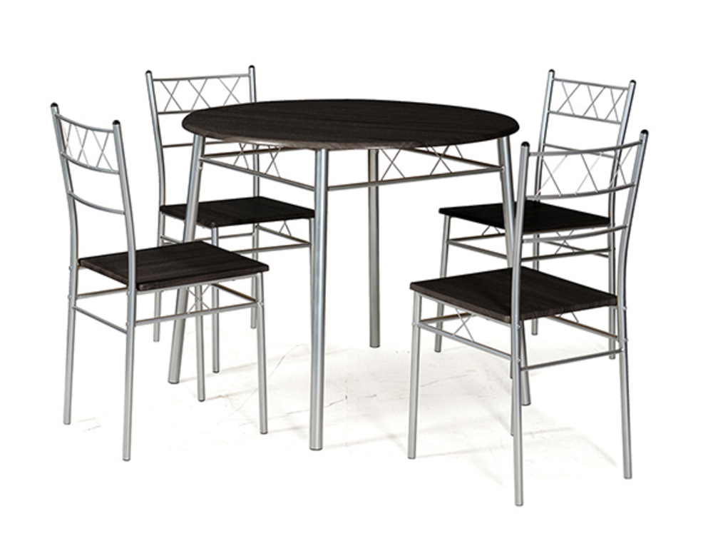 table ronde 4 chaises lota