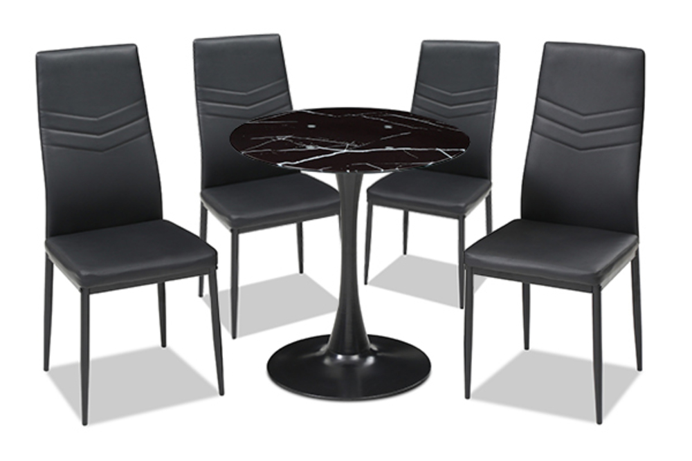 ensemble table ronde 4 chaises livio