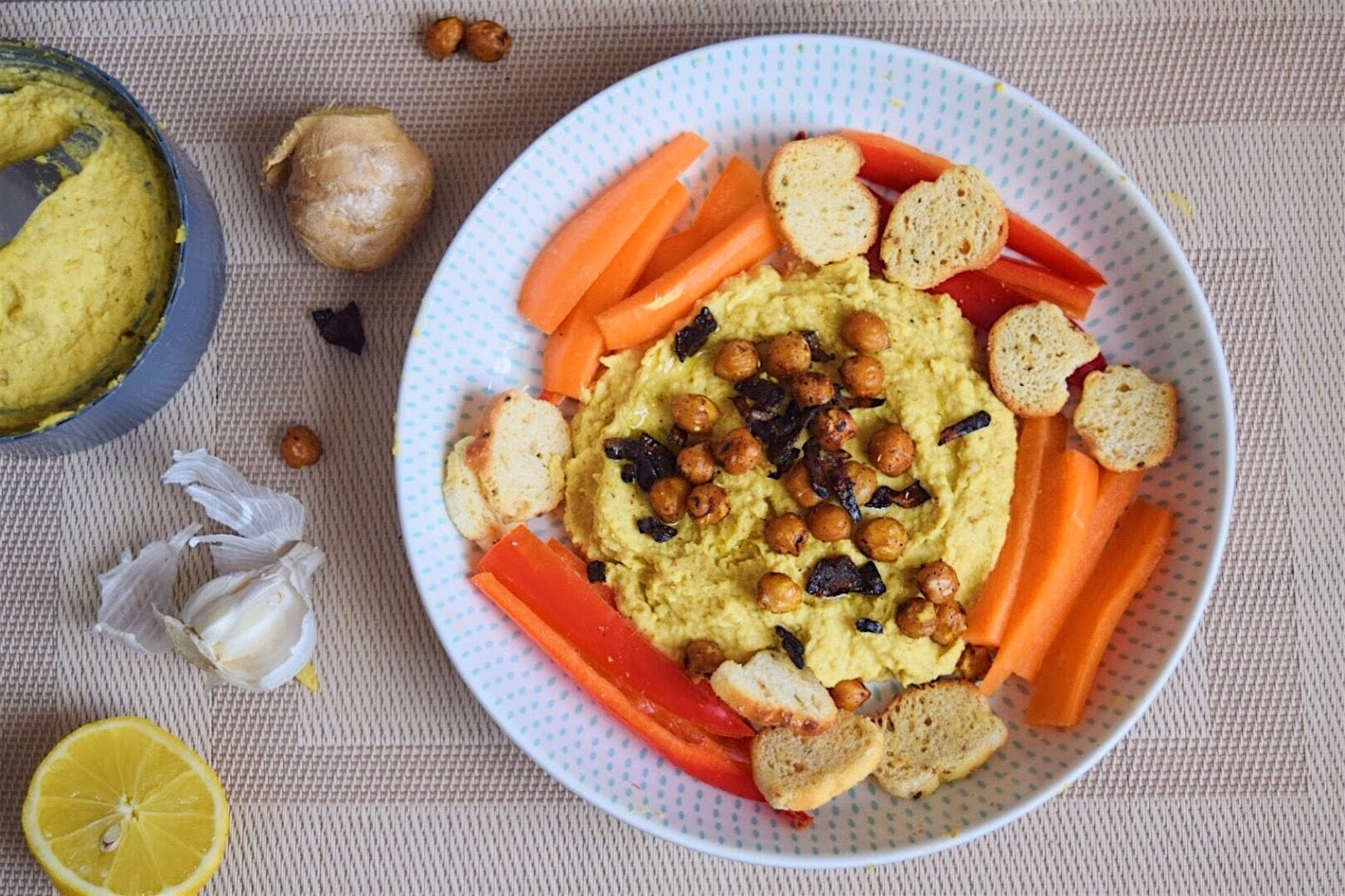 Easy Golden Hummus- A Twist on a Classic