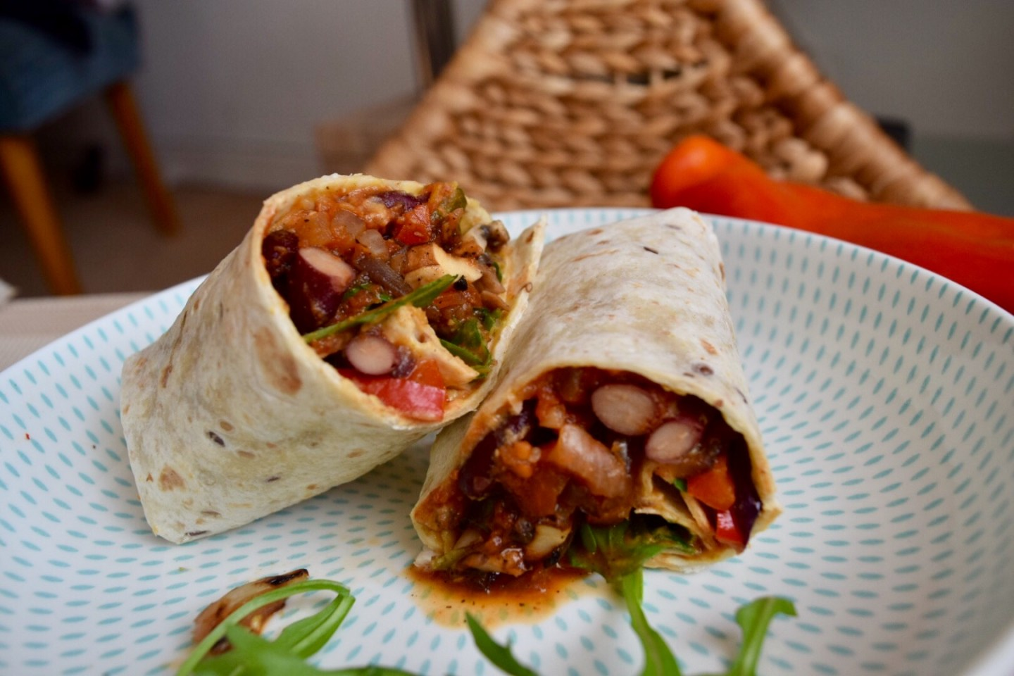 Healthy vegan breakfast burrito recipe