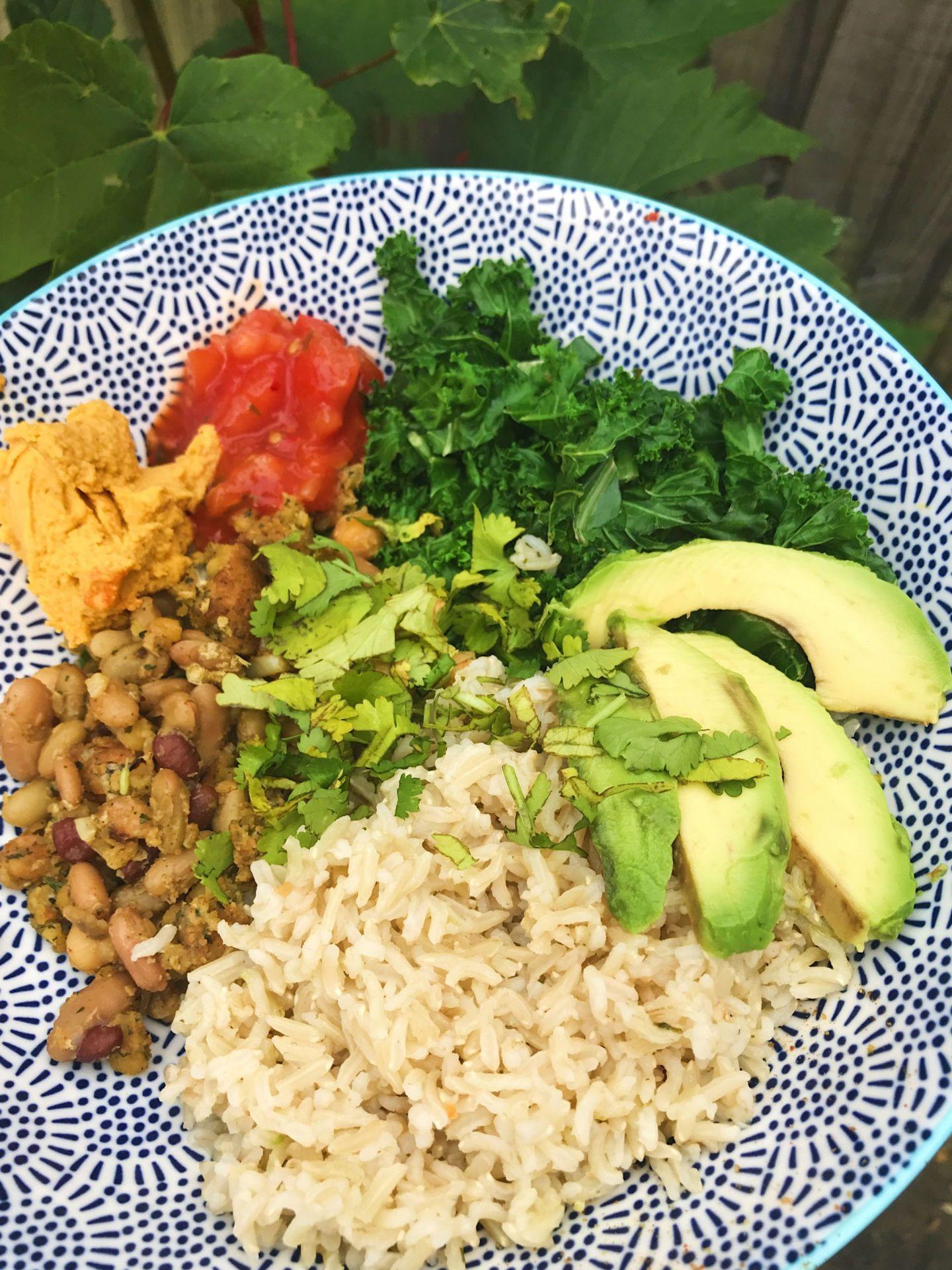 vegan falafel buddha bowl