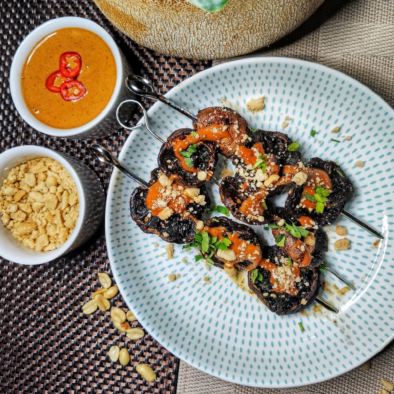 vegan mushroom satay recipe