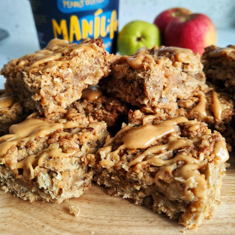 vegan apple flapjack recipe