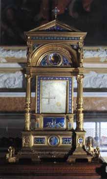 Reliquiario contenente uno dei marmi con i segni del Miracolo