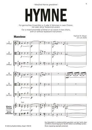 Hymne Beispielseite