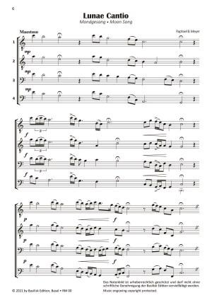 Lunae Canticum Beispielseite Lunae Cantio Raphael B. Meyer
