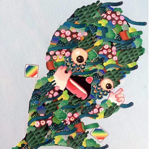 BAS Illustration Floral Guy