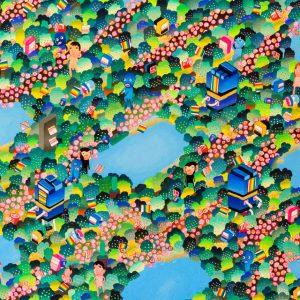 BAS Illustration original art: Forest Collection Print 1