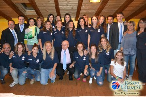 Tutta la squadra e lo staff della Lazùr 2014-'15 (foto R. Quartarone)