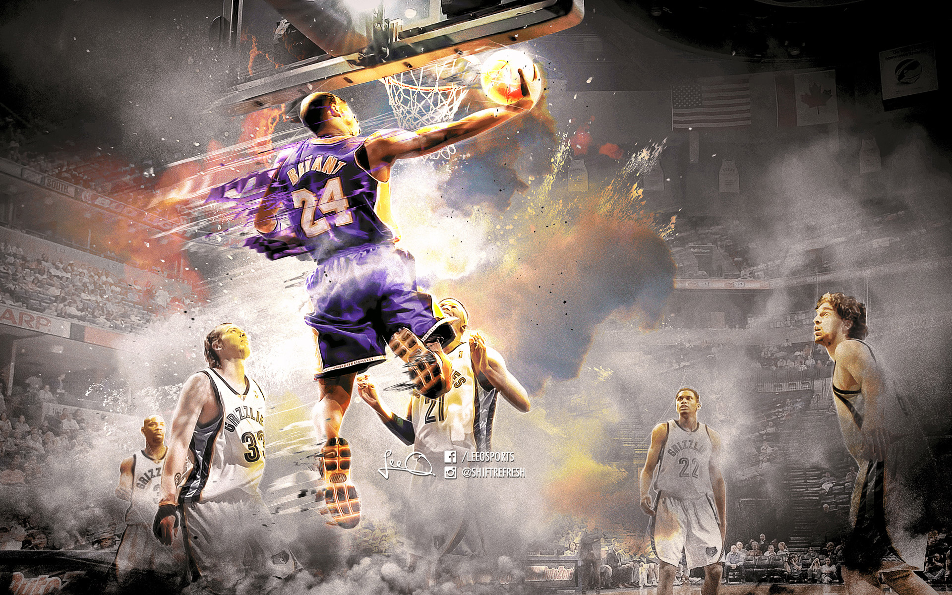 Kobe Bryant Wallpapers   Basketball Wallpapers at BasketWallpapers com Kobe Bryant 2016 Grizzlies 1920x1200 Wallpaper