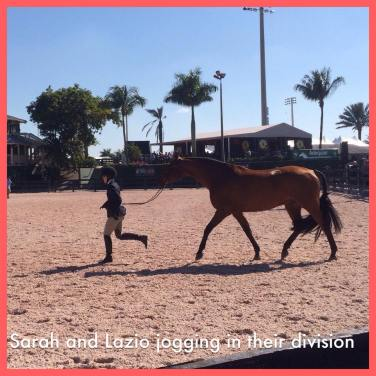 Sarah and Lazio jogging in their division