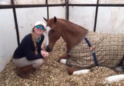 Sarah with Lazio in pen