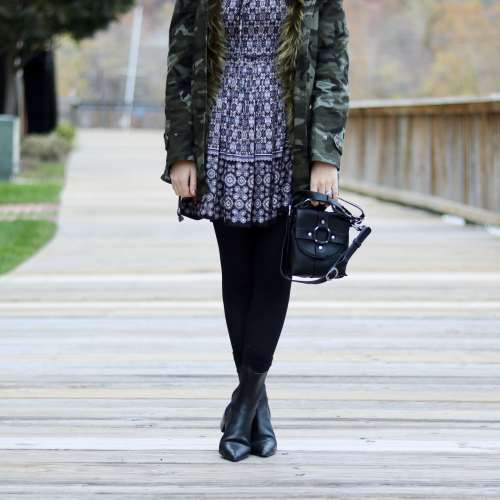 Faux Fur, Paisley, Bell Sleeves and Camo- Oh my!