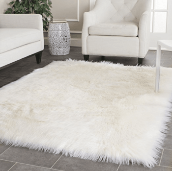 White Faux Fur Rug Amazon Basking in Burgundy