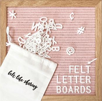 Felt Letter Board Amazon Basking in Burgundy