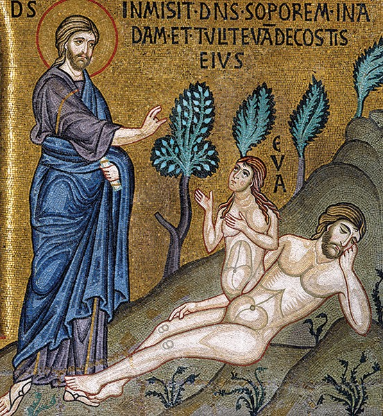 Image result for mosaic of eve coming from adam's side