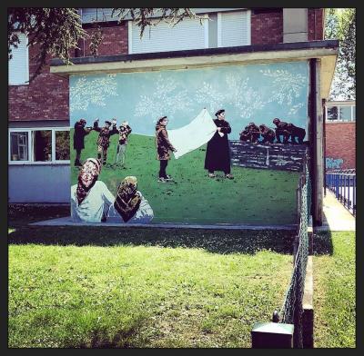 Street art, Cotignola,AboutPonny_OperazioneBandieraBianca