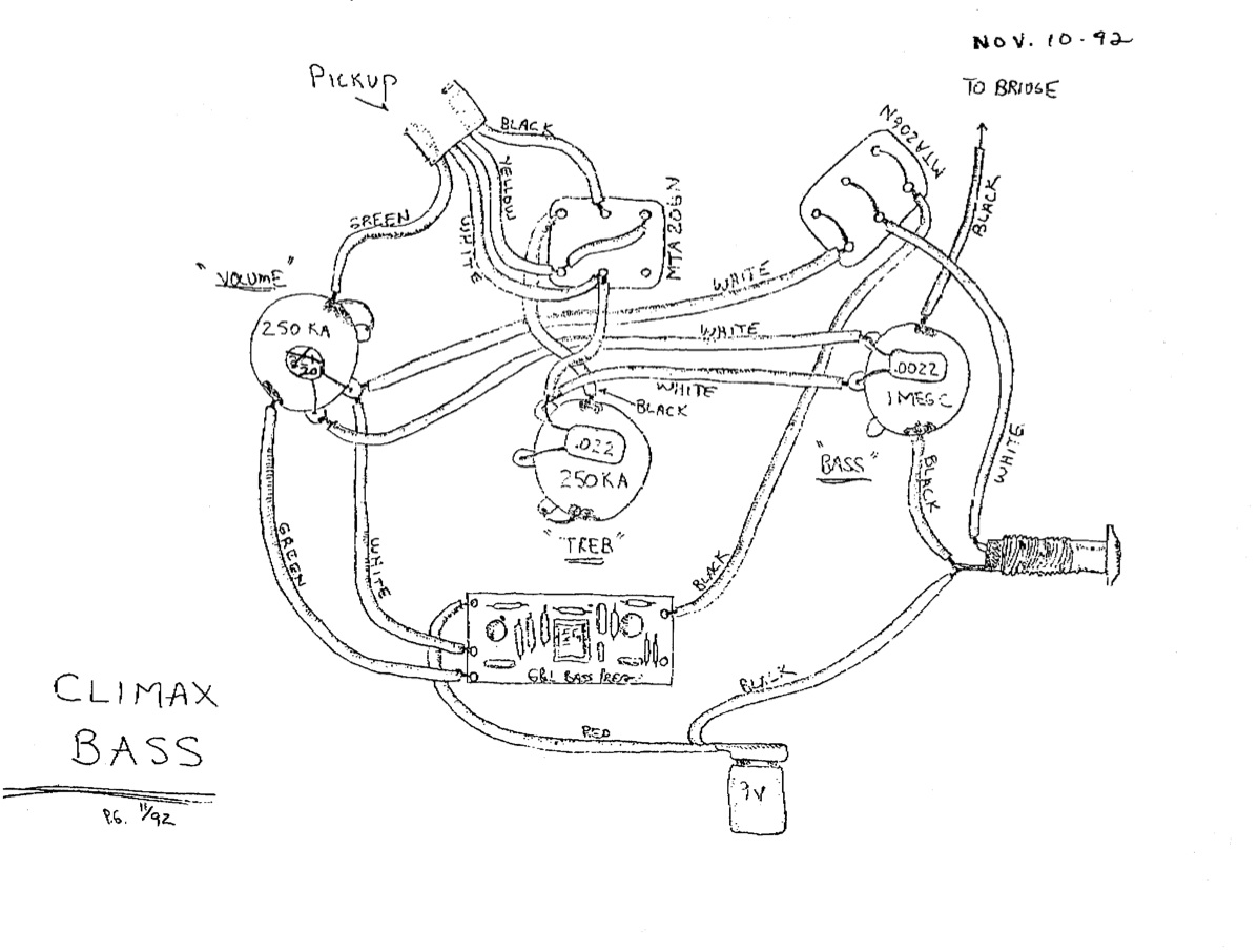 G B Pickups Wiring Diagram