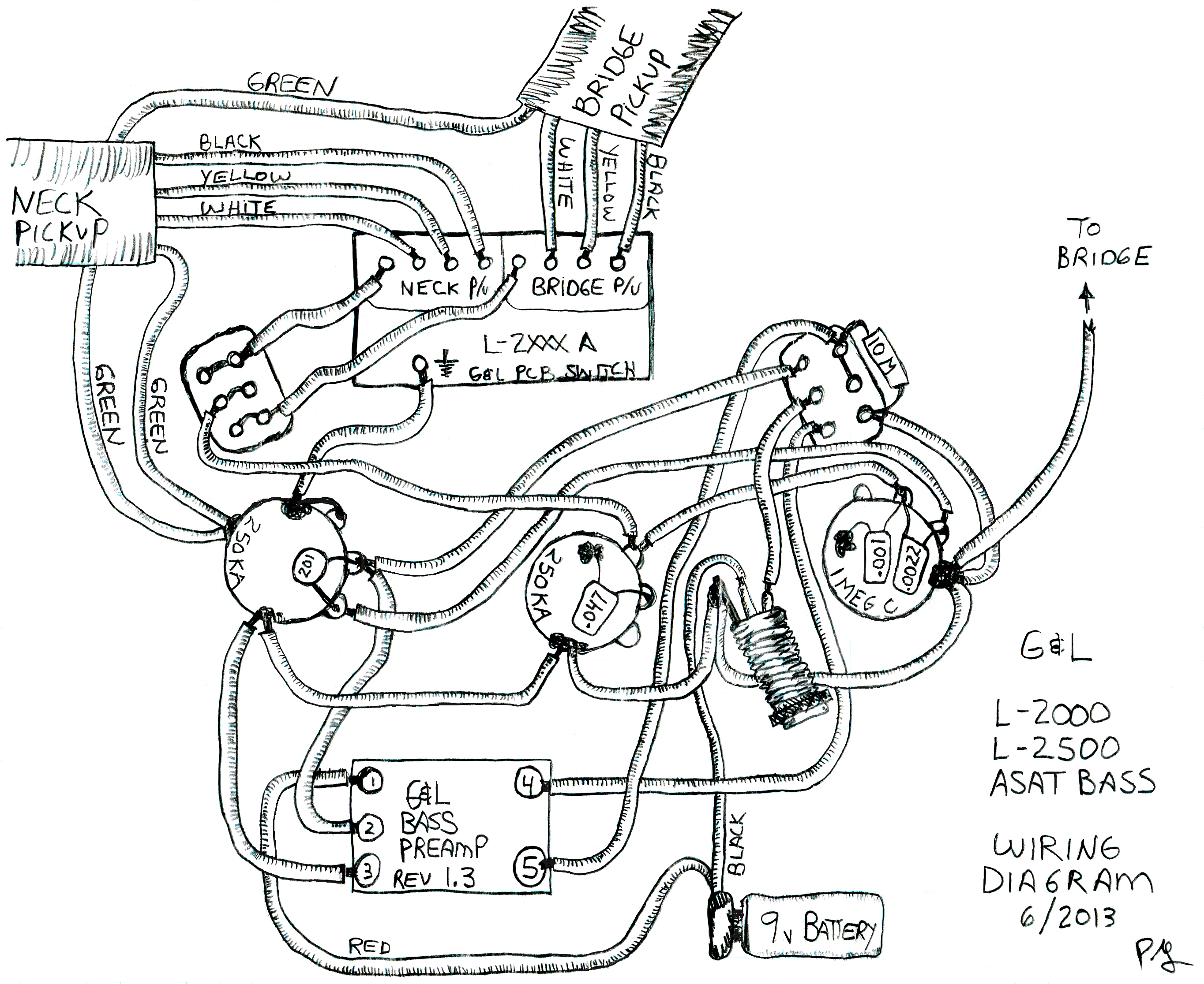 Active Pick Up Wiring Schematic
