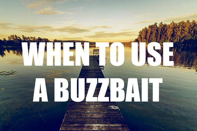 WHEN TO USE A BUZZBAIT