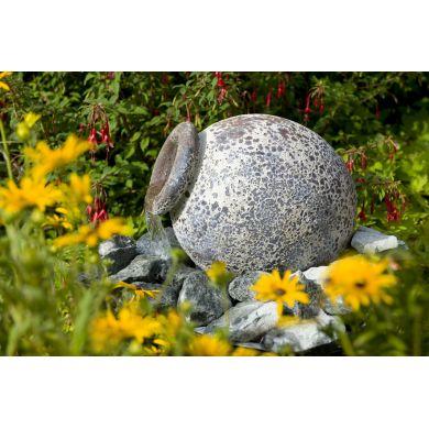 fontaine de jardin orange ubbink avec pompe et bassin