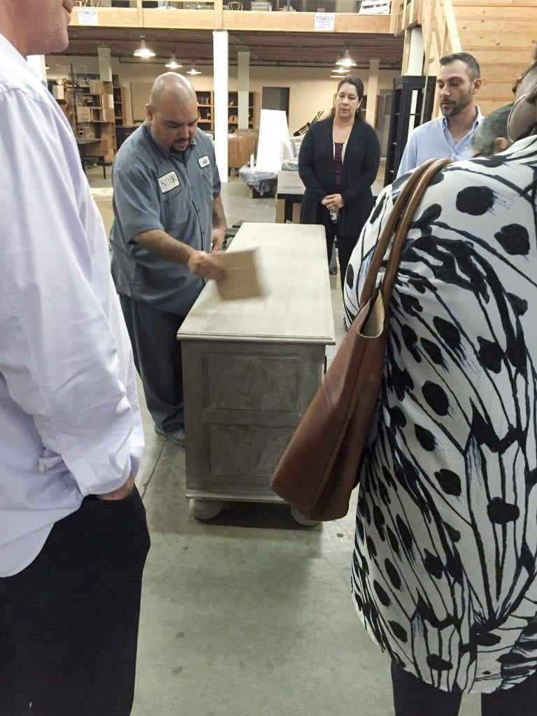 Noir Furniture Open House Tour LA May 2016 Stain Removal Demonstration