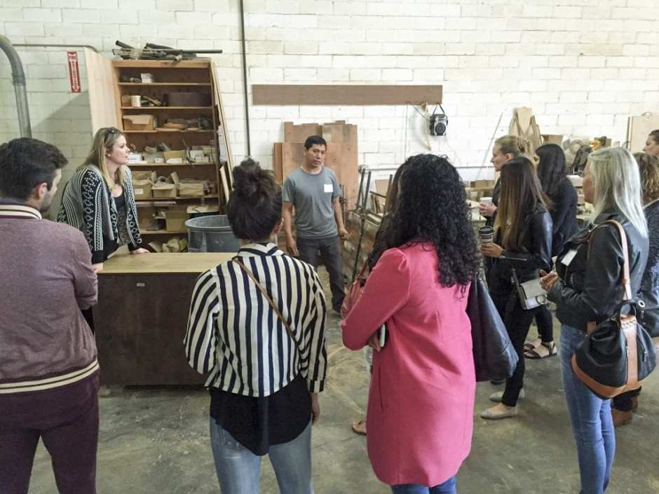 CFC Furniture Open House Tour LA May 2016 Woodwork